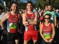 Ben, Ed and Lucrezia at the 5.2km run start